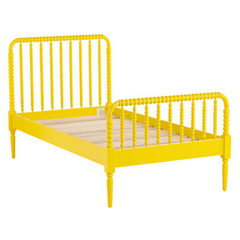 Twin Jenny Lind Yellow Bed