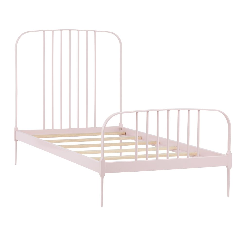 Twin Larkin Metal Bed (Pink)
