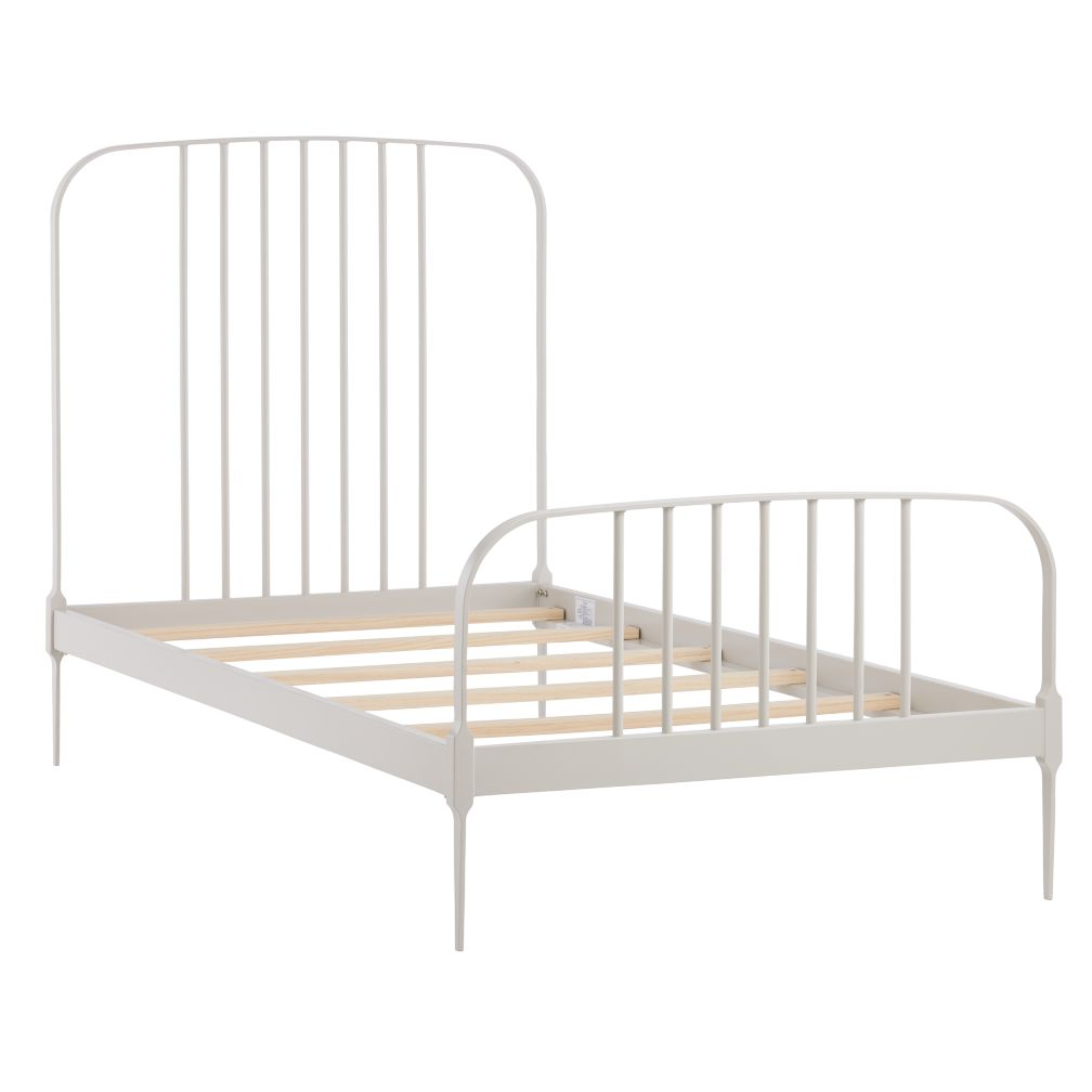 Twin Larkin Metal Bed (Stone)