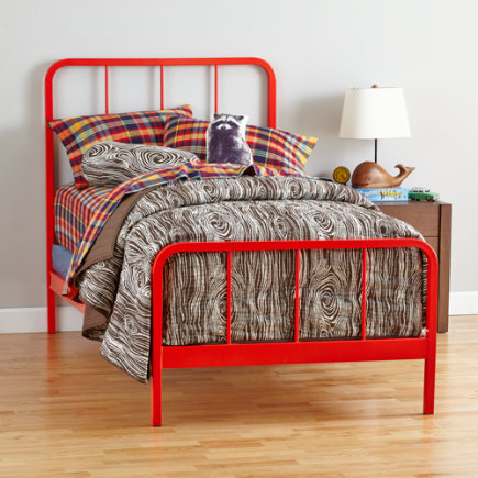 Primary Bed (Red-Orange) - Twin Red-Orange Primary Bed