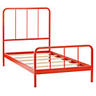 Twin Red-Orange Primary Bed