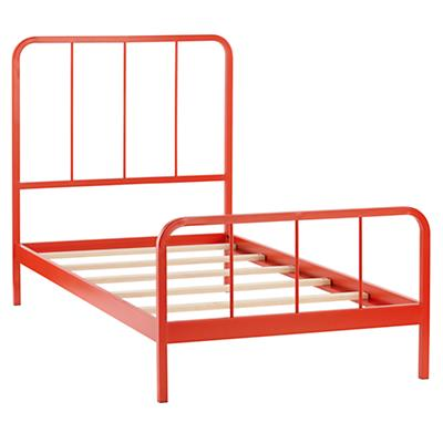 Twin Primary Bed (Red-Orange)