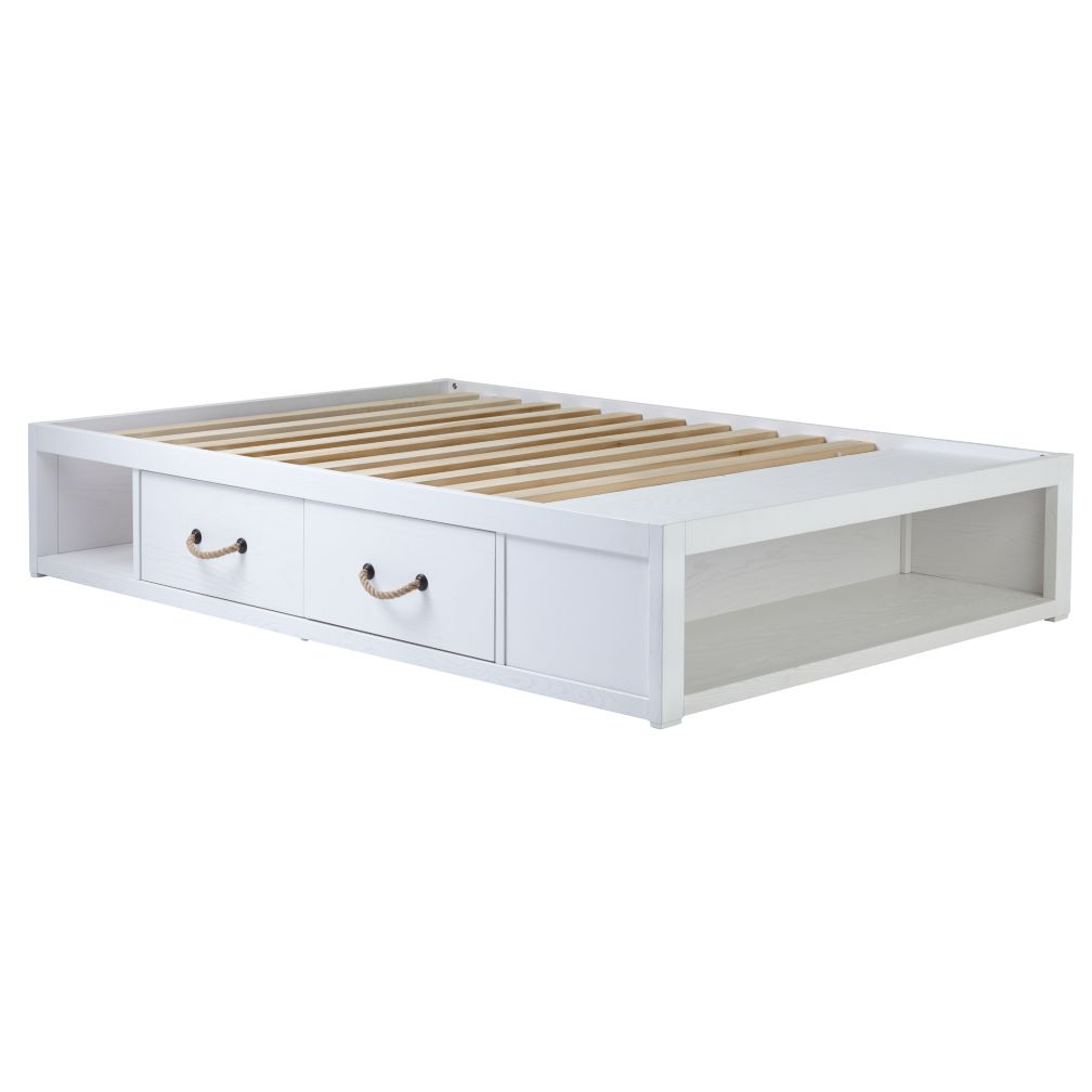 Full Topside White Glaze Storage Bed