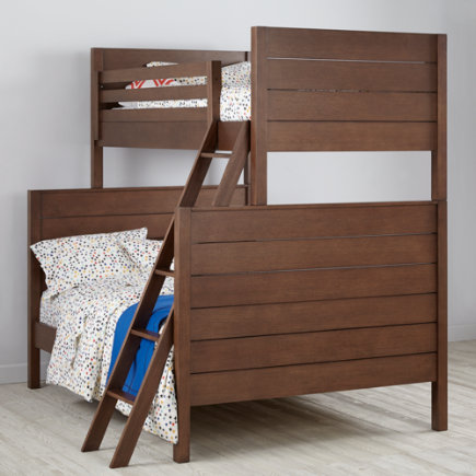 Uptown Twin-Over-Full Bunk Bed (Brown) - Brown Uptown Twin-Over-Full Bunk Bed