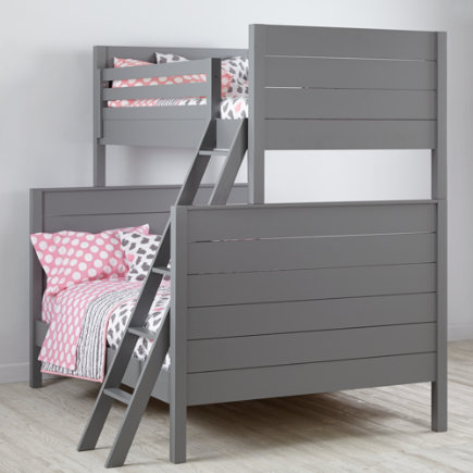 Uptown Twin-Over-Full Bunk Bed (Grey) - Grey Uptown Twin-Over-Full Bunk Bed