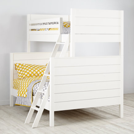 Uptown Twin-Over-Full Bunk Bed (White) - White Uptown Twin-Over-Full Bunk Bed