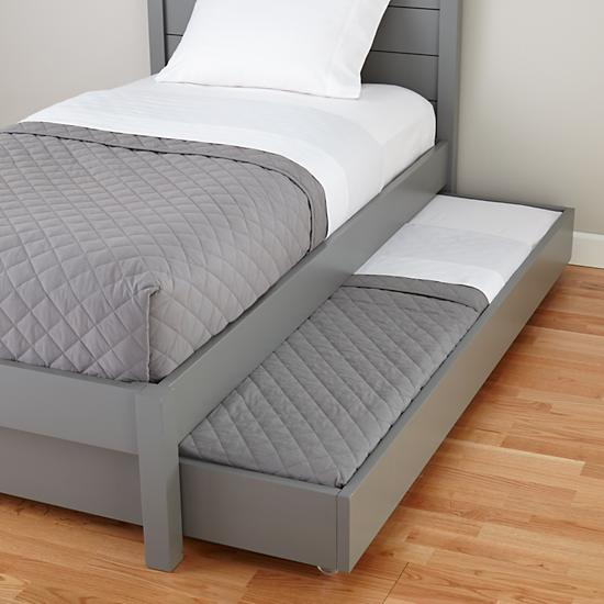 Uptown Trundle Bed Grey The Land Of Nod