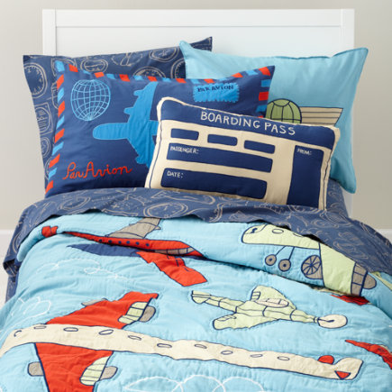 blue airplane themed cotton bedding twin airplane quilt 189 00the