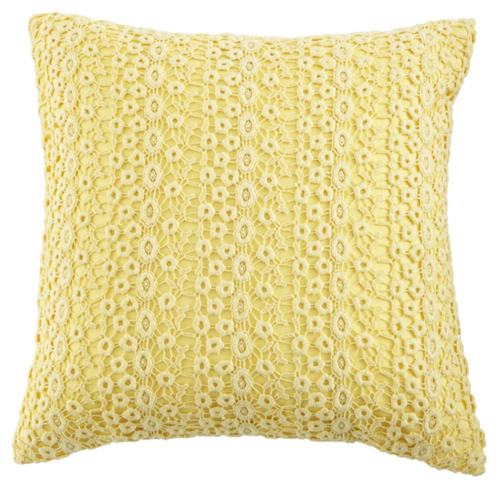 Lace Pillow Cover (Yellow)
