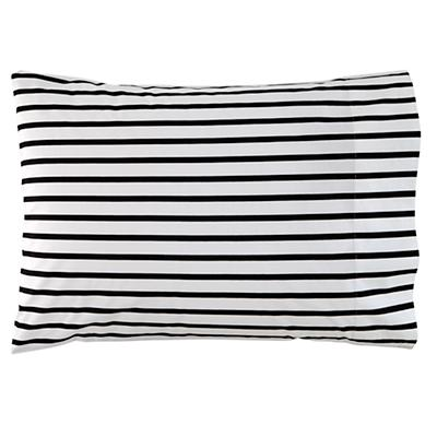 Organic Noir Stripe Pillowcase