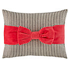 Pink Bow Throw Pillow Set