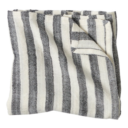Bamboo Baby Blanket (Black Stripe) - Black Striped Blanket