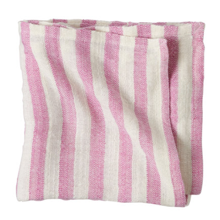 Bamboo Baby Blanket (Purple Stripe) - Fuchsia Striped Blanket