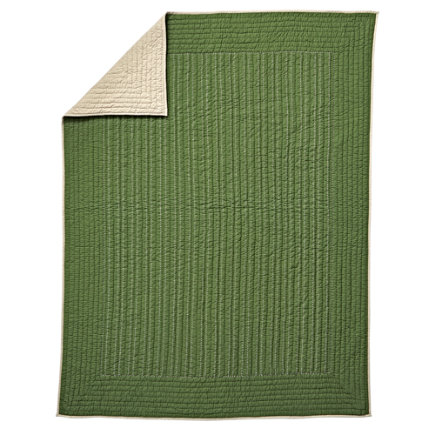 Stitched Moving Blanket (Green) - Twin Green Stitched Moving Blanket