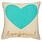 Mint Bonjour Heart Pillow