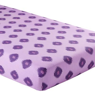 Bazaar Crib Fitted Sheet (Purple Ikat)