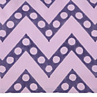 Purple Zig Zag Print Crib Skirt