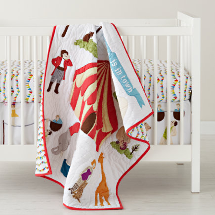 Baby Bedding: Circus Themed Crib Bedding - Under The Big Top Crib Quilt