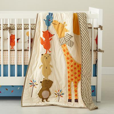 Bright Eyed, Bushy Tailed Crib Skirt