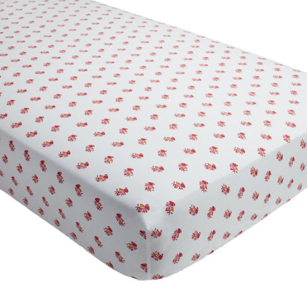 Bohemian Fitted Crib Sheet (Pink Floral) - Bohemian Garden Floral Crib Fitted Sheet