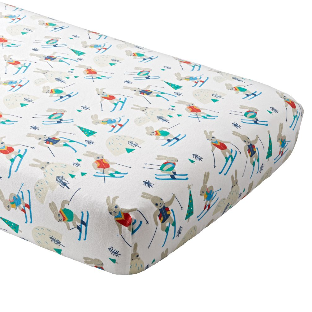 Bunny Hill Flannel Crib Fitted Sheet