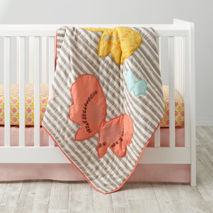 Fly Away Crib Bedding - Fly Away Baby Quilt