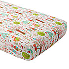Candy Forest Flannel Crib Fitted Sheet