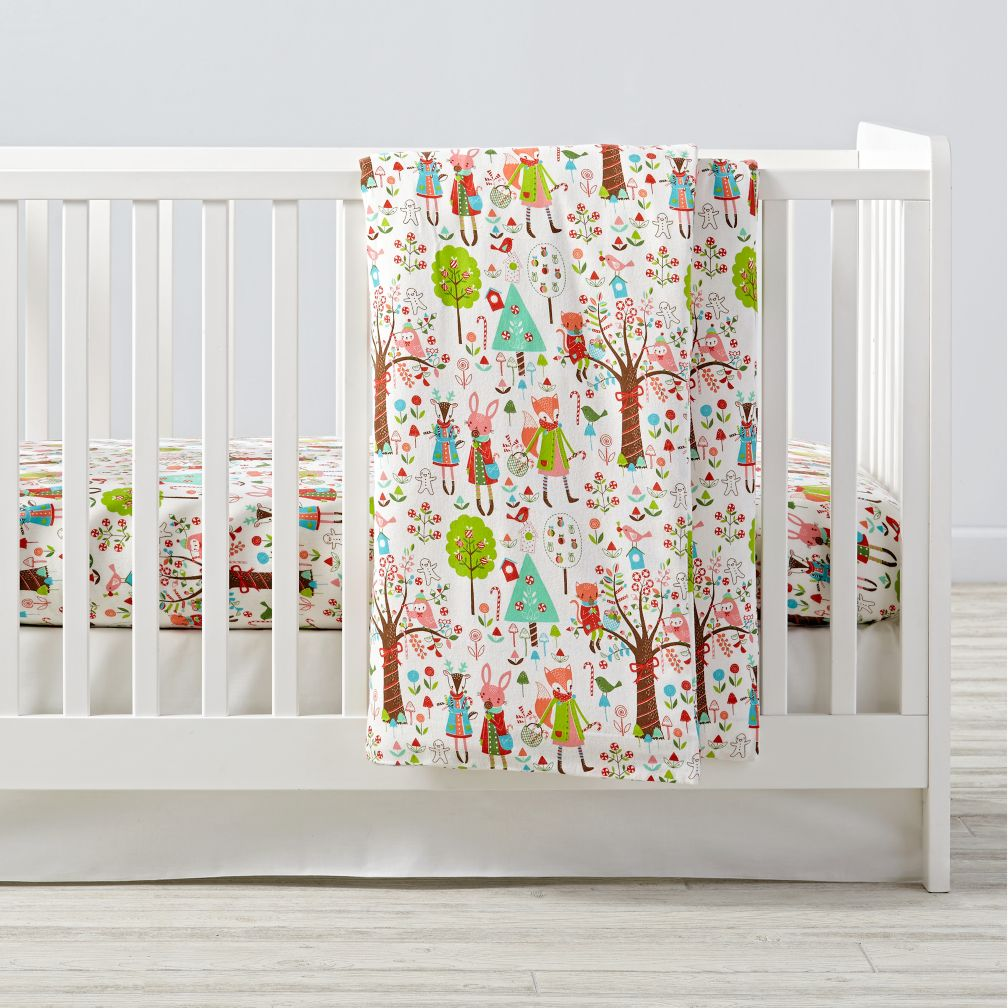 Candy Forest Flannel Toddler Duvet Cover