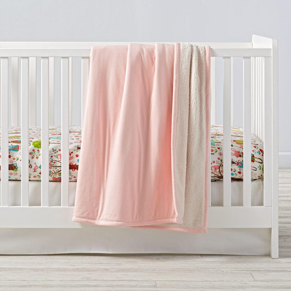 Candy Forest Flannel Crib Bedding
