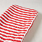 Red Candy Stripe Changing Pad Cover