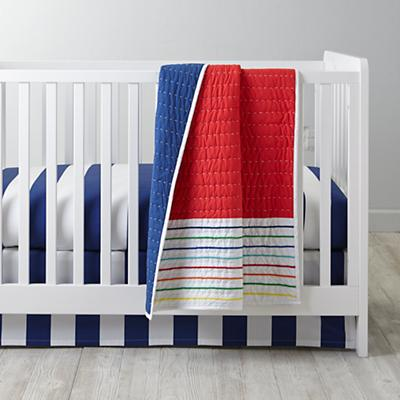 Candy Stripe Baby Quilt