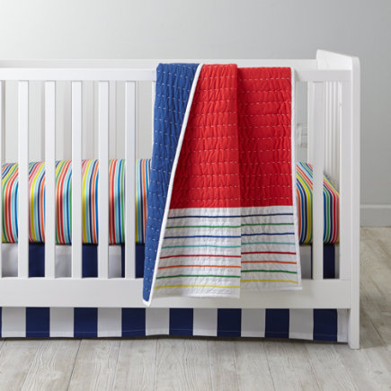 - Candy Stripe Baby Bedding