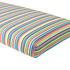 Multi Candy Stripe Crib Fitted Sheet.