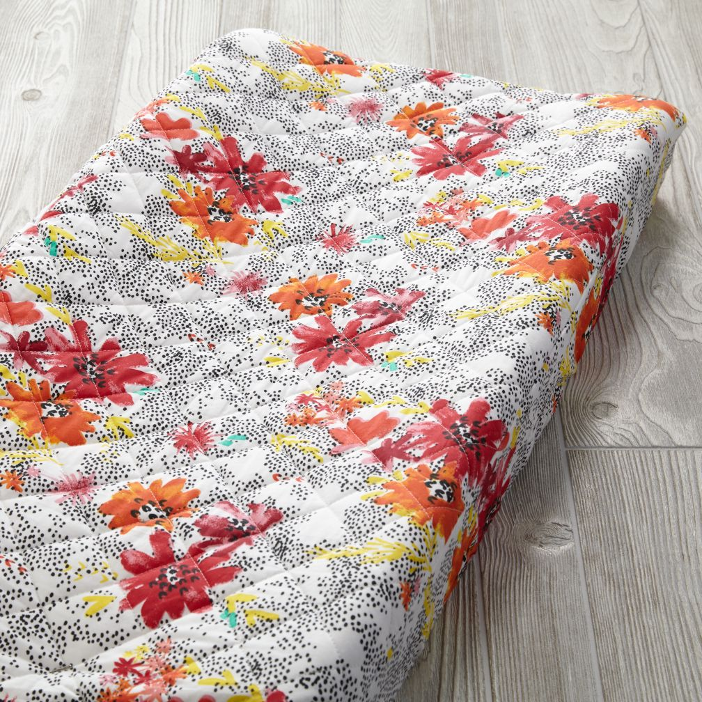 Floral Pop Changing Pad Cover (Dot)