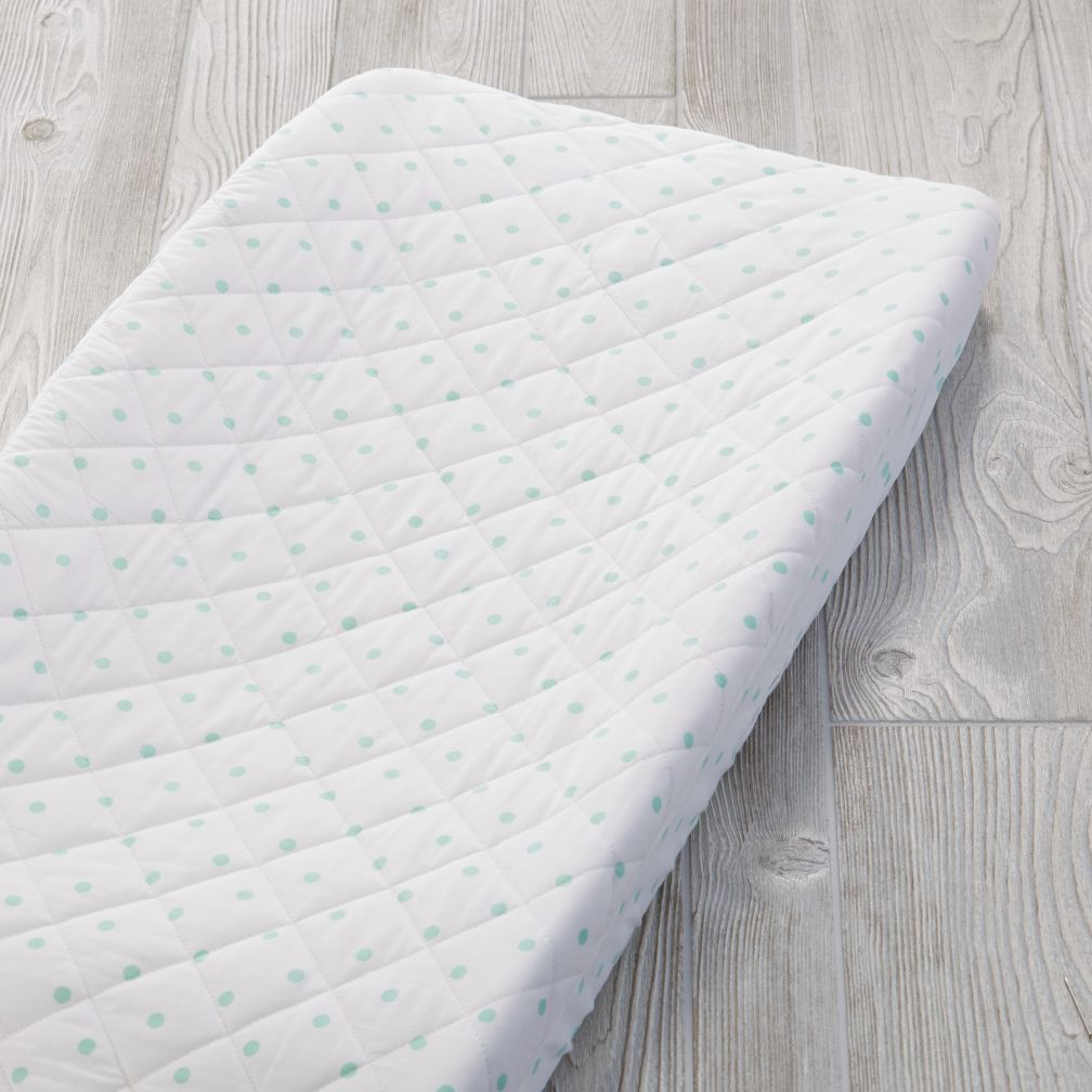 Go Lightly Changing Pad Cover (Mint Dot)