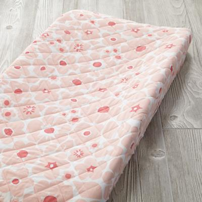 Go Lightly Changing Pad Cover (Pink Floral)