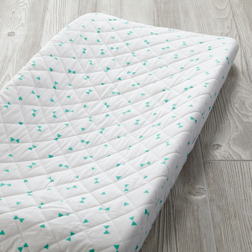 Go Lightly Changing Pad Cover (Mint Triangle)