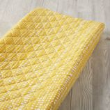 Mod Botanical Changing Pad Cover (Yellow Hatch)
