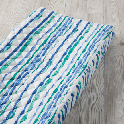 Regatta Changing Pad Cover (Blue Stripe) - Regatta Blue Stripe Changing Pad Cover