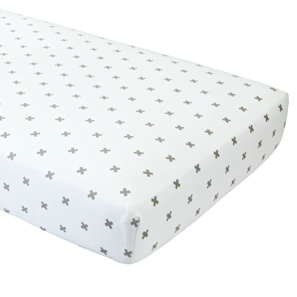 Crisscross Flannel Crib Fitted Sheet