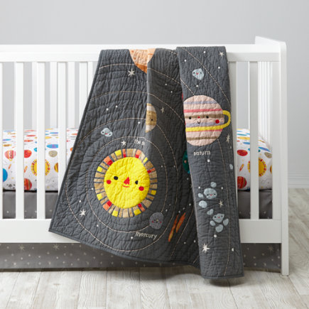 Deep Space Crib Bedding - Deep Space Baby Quilt