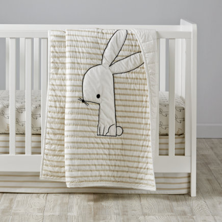 Early Edition Crib Bedding (Bunny) - Early Edition Bunny Baby Quilt