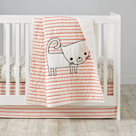 Early Edition Baby Quilt (Cat) - Early Edition Cat Baby Quilt