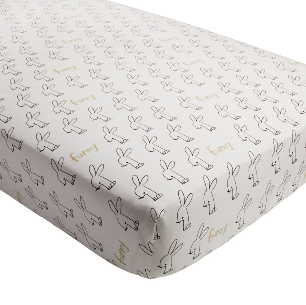 Early Edition Crib Fitted Sheet (Bunny)