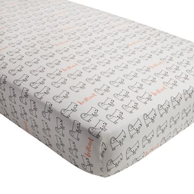 Early Edition Crib Fitted Sheet (Cat)