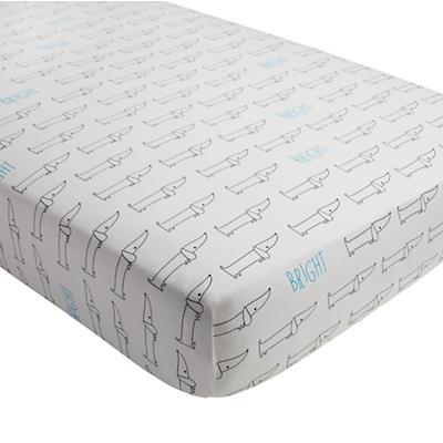 Early Edition Crib Fitted Sheet (Dog)