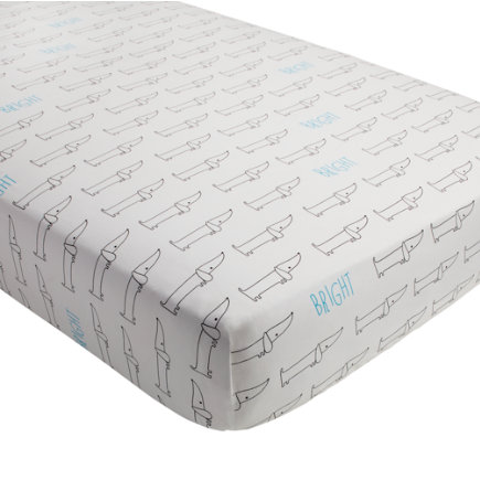 Early Edition Crib Fitted Sheet (Dog) - Early Edition Dog Crib Fitted Sheet