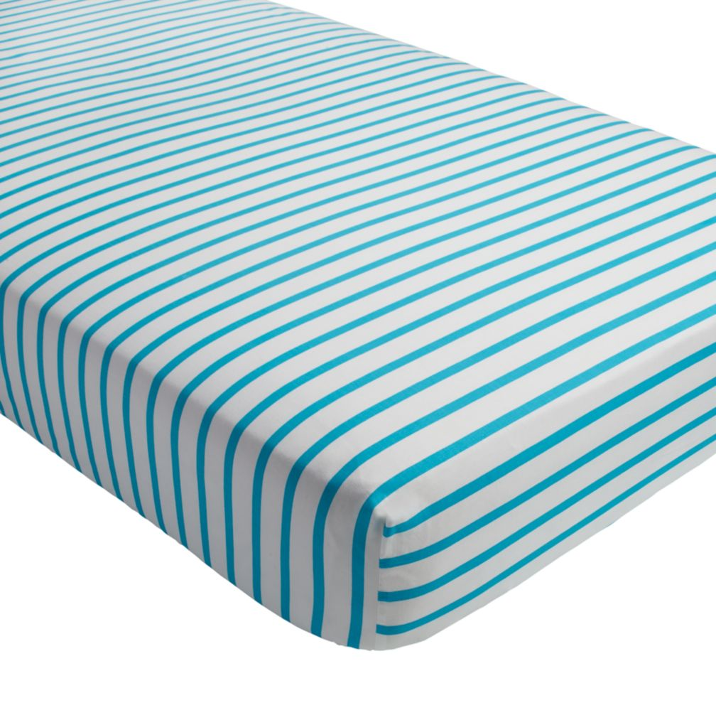 Early Edition Crib Fitted Sheet (Blue Stripe)