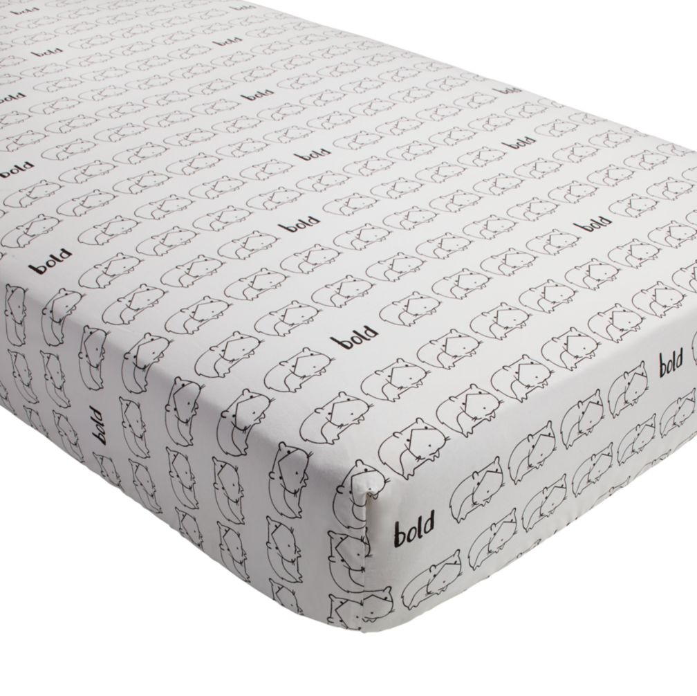 Early Edition Crib Fitted Sheet (Hamster)