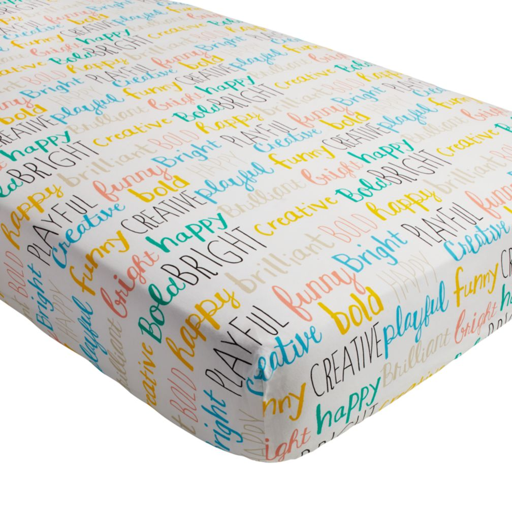 Early Edition Crib Fitted Sheet (Word)